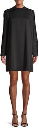 BCBGMAXAZRIA Lace-Trimmed Dress
