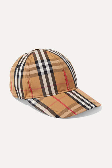 Burberry Checked Cotton-canvas Baseball Cap - Beige