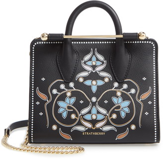 Strathberry Nano Painted Calfskin Leather Tote
