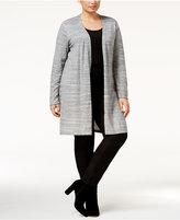 Calvin Klein Plus Size Open-Front Duster Cardigan