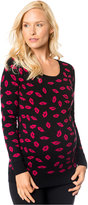A Pea in the Pod Maternity Kiss-Print Sweater