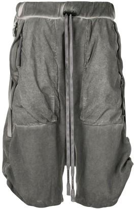 Boris Bidjan Saberi Drop-Crotch Cropped Trousers