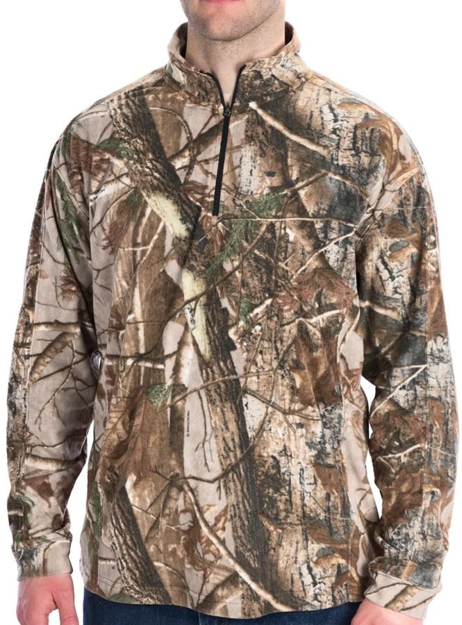 Camo Dri Duck Fleece Shirt - UPF 50, Zip Neck, Long Sleeve (For Men)