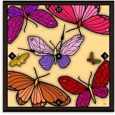 Green Leaf Art Butterfly Garden Decorative Art Clock