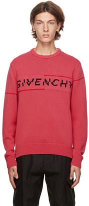 Givenchy Pink Split Logo Sweater