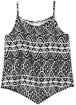 Epic Threads Geo-Print Pompom Tank Top, Toddler & Little Girls (2T-6X), Created for Macy's