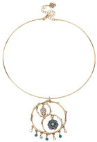 Betsey Johnson Skulls And Roses Skull Wire Necklace