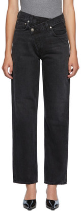AGOLDE Black Criss Cross Jeans