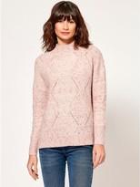 M&Co Diamond cable knit jumper