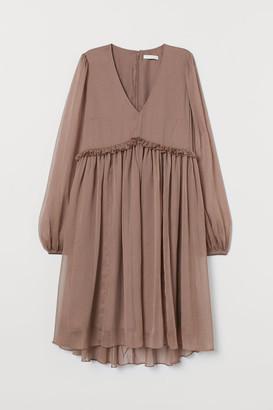 H&M MAMA Chiffon Dress - Beige