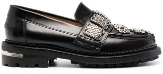 Toga Pulla Chain Applique Chunky-Sole Loafers