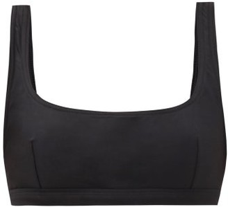Matteau The Nineties Scoop-neck Bikini Top - Black