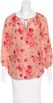 Rebecca Taylor Silk Floral Print Blouse