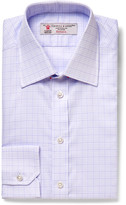 Turnbull & Asser - Lilac Slim-fit Checked Cotton Shirt