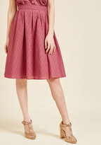 ModCloth Eyelet Excitement Midi Skirt in 2X