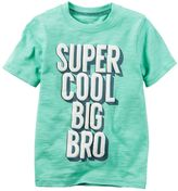 "Carter's Boys 4-8 Super Cool Big Bro"" Graphic Tee"