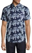 Report Collection Floral-Print Cotton Shirt