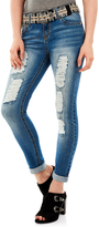 Gemma Legendary Belted Rolled-Ankle Jeans