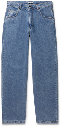 Pop Trading Company Wide-Leg Stonewashed Denim Jeans