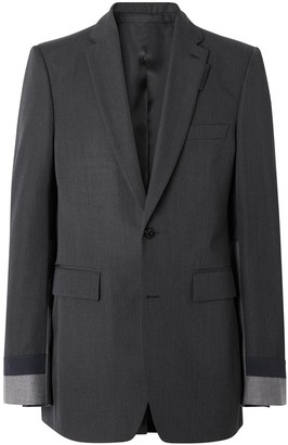 Burberry Classic Fit Panelled Tailored Jacket