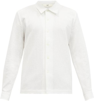 Séfr Ripley Cotton-seersucker Shirt - White