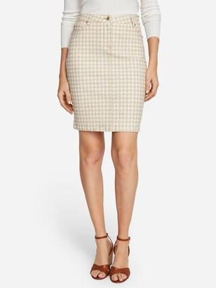 J.Mclaughlin Josette Skirt in Mini Paris Houndstooth