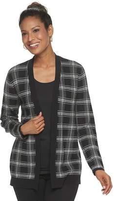 Croft & Barrow Women's Essential Open-Front Cardigan