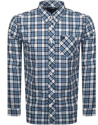 Fred Perry Long Sleeved Tartan Shirt Blue