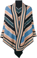 Antonia Zander striped poncho - women - Cashmere - One Size