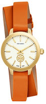 Tory Burch The Collins Goldtone Stainless Steel Leather Strap Watch
