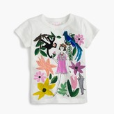 J.Crew Girls' Olive in Mexico City garden T-shirt