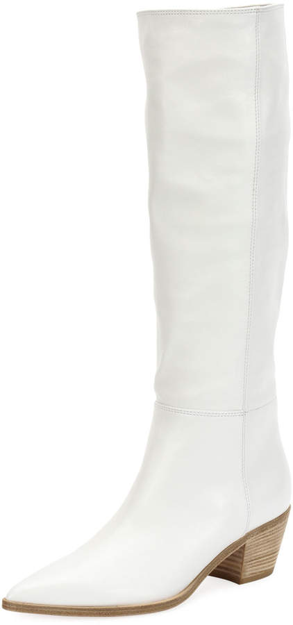 Gianvito Rossi Napa Leather Block-Heel Knee Boot