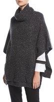 Brunello Cucinelli Wool-Blend Tweed Turtleneck Poncho