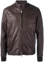 Orciani zipped jacket - men - Leather/Polyamide/Spandex/Elastane/Viscose - 50