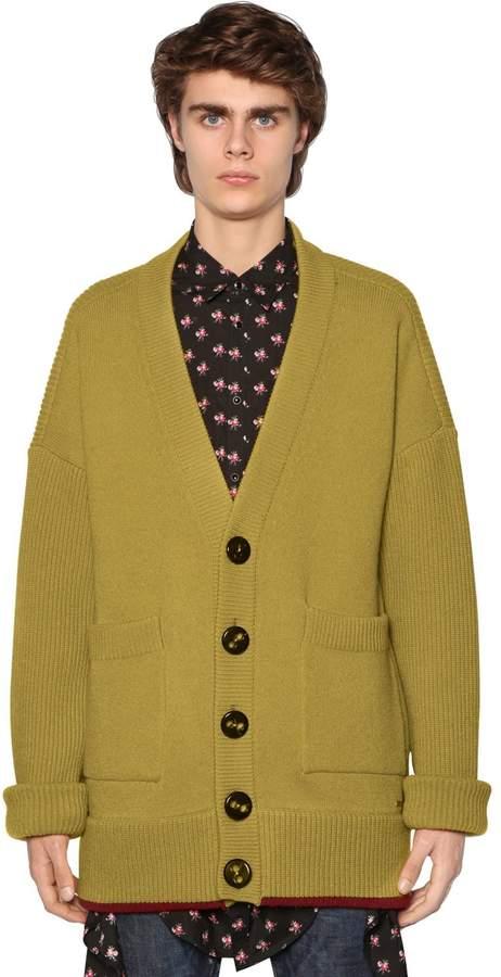 DSQUARED2 Oversized Wool Cardigan