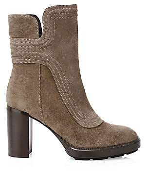 Aquatalia Women's Illiana Block-Heel Suede Boots