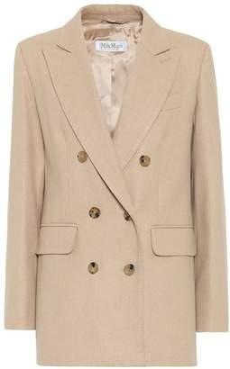 Max Mara Lacuna camel-hair and cashmere blazer