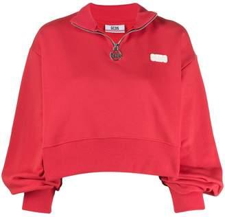 GCDS zipped logo sweater