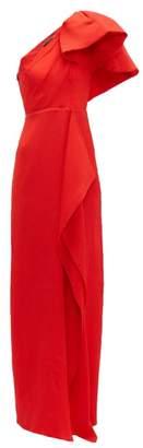 Roland Mouret Belhaven Silk-seersucker Gown - Womens - Red