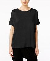Eileen Fisher Silk & Organic Linen High-Low Tunic