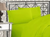 Elegant Comfort 1500 Thread Count Wrinkle & Fade Resistant Egyptian Quality Ultra Soft Luxurious 4-Piece Bed Sheet Set with Deep Pockets, Full Lime