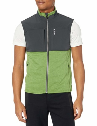 Hi-Tec Men's Fan Point Mesh Back Zip Vest with Active Dri-tec