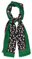 Dolce & Gabbana Floral Wool & Silk Scarf