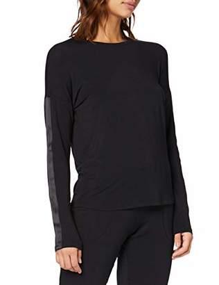 Marc O'Polo Body & Beach Women's Mix W-Shirt Ls Crew-Neck Pyjama Top,10 (Size: Small)