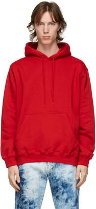 MSGM Red Logo Hoodie