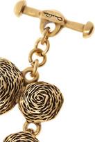 Oscar de la Renta Swirl gold-plated finger bracelet