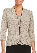 Marina Glitter Embellished Jacket and Tank Set