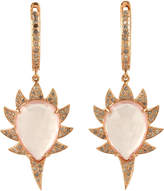 Meghna Jewels Claw Spiked Drop Diamonds Earrings