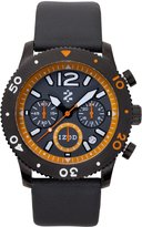 Izod Men's IZS6/1 Black/Orange Sport Quartz Chronograph Watch