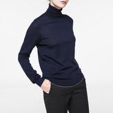 Paul Smith Women's Navy Merino Wool Roll-Neck Sweater